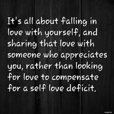 To true, glad I see it now. I do love myself. I'm giving loving affectionate and would do anything for a partner, even let them go.