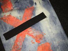 """Denim-bleachin', spray-paintin', patches-addin' corporate cropped clothes"". Photo credit: chromet.tumblr.com"
