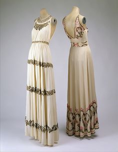 Evening dress, Date: 1938, Culture: French, The Metropolitan Museum of Art.