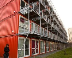 Keetwonen dorm, University of Amsterdam, walked past them and they look great!