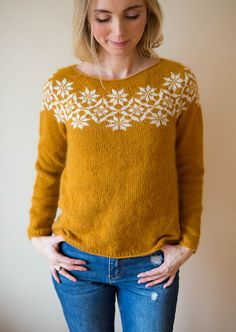 Ravelry: Signe sweater / Signegenser pattern by Marianne J. Bjerkman