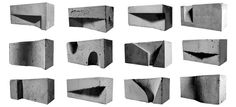Cool designer concrete blocks to create textured and interesting surfaces by Loom Studio. Concept Architecture, Studios Architecture, Architecture Design, Architecture Models, Concrete Casting, Surface Modeling, Concrete Sculpture, Cube Design, Arch Model