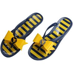 West Virginia Mountaineers Lillybee U Women's Flip-Flop with Bow - $35.99