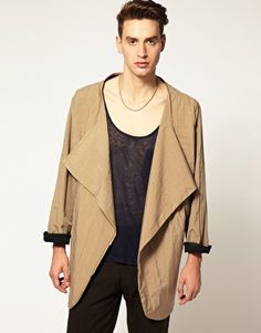 The Twelfth Letter Open Draped Jacket