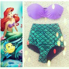 Ariel inspired bathing suit