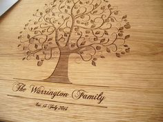 Personalized Handmade Wood Cutting Board  FAMILY by AlgisCrafts, $29.00
