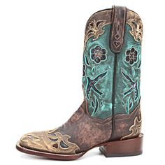 Dan Post Copper & Turquoise Bluebird Cowgirl Boots DP2914 - PFI Western Store