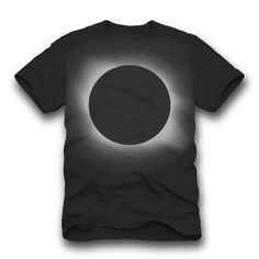 Eclipse Tee Men's Black, by Joshua Cohen & Laura Manning of The Rise And Fall. Blusas T Shirts, Tee Shirts, Great T Shirts, Shirt Jacket, Cool Tees, Mens Tees, Printed Shirts, Shirt Designs, Graphic Tees