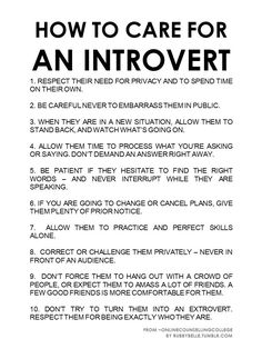 Caring for an Introvert   How to Care for an Introvert   Things I Love