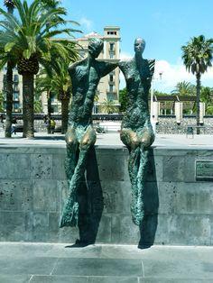 statue.  Barcelona, Catalonia