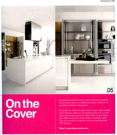 The Slim Kitchen from Elmar is a sleek and simple collection of versatile furniture components available from Laurence Pidgeon, Designer Kitchen & Bathroom Magazine, July 2013