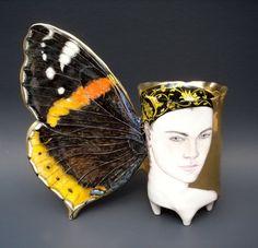 Irina Zaytceva porcelain art, a favorite of mine, the Jane Sauer gallery, Santa Fe.