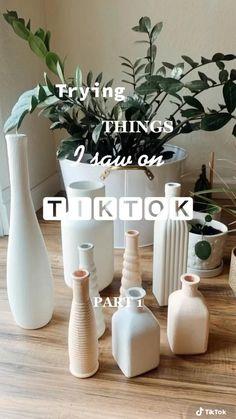 Diy Crafts For Home Decor, Diy Crafts Hacks, Diy Wall Decor, Diy Projects, Home Decor Vases, Diys, Aesthetic Room Decor, Boho Diy, Home And Deco