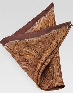 Joseph Abboud Brown Pocket Silk Style #TMW_80GJ_03: [14]