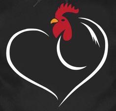 minimalistic rooster tattoo