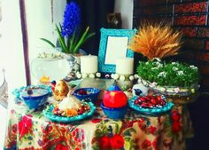 #Haftsin#newyear#norouz Four Square, Persian, Pottery, Free, Ceramica, Persian People, Pottery Marks, Persian Cats, Ceramic Pottery
