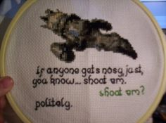 """Firefly cross-stitch """"If anyone gets nosy, just, you know... shoot 'em."""""""