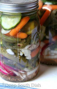 Refrigerator Pickled Vegetables (Giardiniera) - Deep South Dish