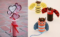 valentine's day crafts for kids love bees made of empty toilet paper tubes love hearts decorating ideas