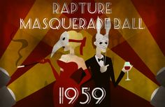 Bioshock Masquerade Ball Print  wonder if i can paint this..