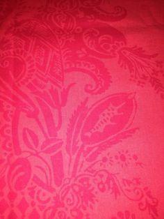 "Marimekko Fabric ""Habanera"" Red on Red Fabric 1 Yard Red Hot Detailed Design | eBay"