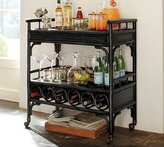 bar cart with wine rack: I did this in my kitchen.