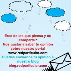 Nos gustaría saber tu opinión sobre nuestro portal redparticular.com