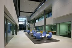 2012 Commercial Honorable Mention: RSP Architects for the Software Headquarters Facility in Medina, MN. Tiles: Floor Gres