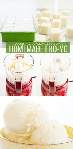 This homemade frozen yogurt is made from Greek yogurt and honey, and without an ice cream maker. Smooth, creamy and ready to be served immediately!