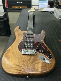 G&L Musical Instruments Legacy HSS in Natural Frost over Monkeypod (East Indian Walnut), tortoise guard, rosewood board, G&l Guitars, Guitar Kits, Beautiful Guitars, Ukulele, Musical Instruments, Bass, Musicals, Electric Guitars, Hulk