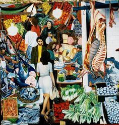 La Vucciria Market by renowned Sicilian painter Renato Guttuso