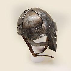 Viking helmet. 1.5 mm steel and leahter. LARP armor