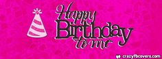 Hot Pink Happy Birthday To Me Facebook Cover - Facebook Timeline Cover Photo - Fb Cover