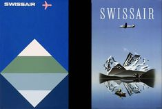 Le Corbusier, Retro Poster, Vintage Posters, Swiss Air, Swiss Design, Less Is More, Gouache, Reflection, Aviation