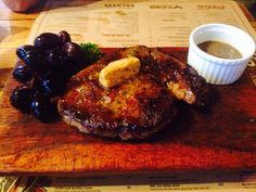 Beef steak with special grapes at Ut Ut restaurant