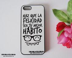 Haz que la felicidad sea tu mejor hábito   Carcasa para diferentes modelos y teléfonos móviles. Encuentra la tuya en http://ift.tt/1n71PmC  #virusdlafelicidad #carcasa #movil #iphone #samsung #apple #galaxy #accesorio #felicidad #habito #sonrisa #virusito #regalo #frase #mensaje
