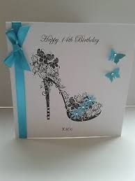 Image result for Handmade birthday card with shoes and purse