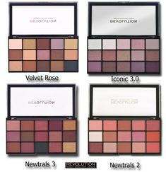 Revolution Re-Loaded Palette. Revolution Re-Loaded Iconic shadow palette has 15 neutral shades in beige, brown and pink. Revolution Re-Loaded Palette - Newtrals Revlon Eyeshadow Palette, Cool Toned Eyeshadow Palette, Covergirl Eyeshadow, Diy Eyeshadow, Urban Decay Eyeshadow Palette, Makeup Revolution Iconic 3, Makeup Revolution Eyeshadow, Makeup Revolution Palette, Beauty Makeup