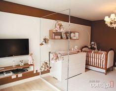 Quarto filha da Ticiane Pinheiro e Roberto Justus - Decoração Marron e Rosa -baby room