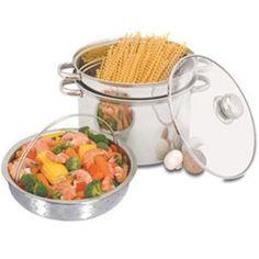 ME Heuck 8 qt. 4 pc. Stainless Steel Multicooker w/ a stockpot, pasta Strainer, Steamer Basket $25.99