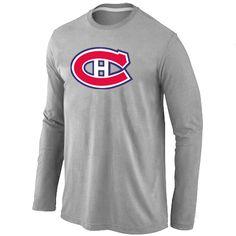 NHL Montreal Canadiens Big & Tall Logo Long Sleeve T-Shirt - Grey