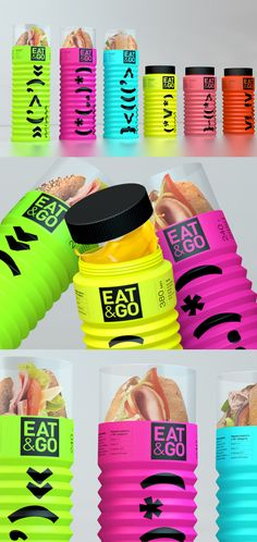 Eat and Go :: design packaging Packaging Box, Food Packaging Design, Packaging Design Inspiration, Brand Packaging, Branding Design, Sandwich Packaging, Coffee Packaging, Identity Branding, Corporate Design