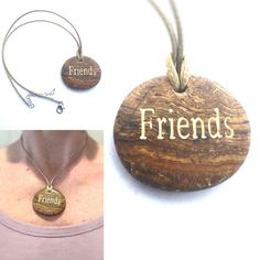 Friend Charm Necklace Friendship Necklace The by CrystalSensation
