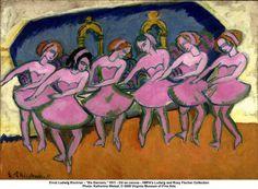 """Ernst Ludwig Kirchner - """"Six Dancers"""""""