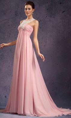Chiffon Empire Halter Long Formal Dresses FSAU1409P801340 - formalsydney.com