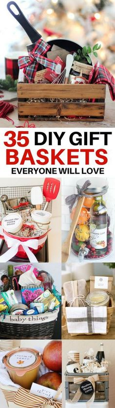 DIY Gift Baskets Everyone Will Love. The BEST DIY gift basket ideas for every occasion! Ideas for get well baskets, housewarming baskets, teacher appreciation baskets, Christmas baskets and more. Christmas Gift Baskets, Diy Christmas Gifts, Holiday Gifts, Christmas Ideas, Christmas Projects, Christmas Ornaments, Christmas Decorations, Christmas Girls, Christmas Morning