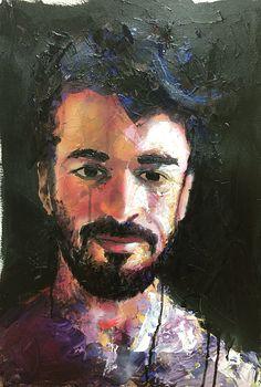 Ben Acrylic on paper 11x15