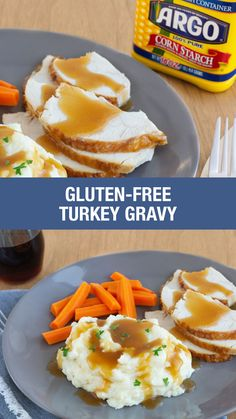 Goodness Gravy, it's gluten-free! Argo Corn Starch is the secret ingredient for a delicious gravy recipe that'll bring together all the flavors of your Thanksgiving Dinner. Gluten Free Diet, Gluten Free Chicken, Foods With Gluten, Gluten Free Cooking, Gluten Free Desserts, Thanksgiving Gravy, Gluten Free Thanksgiving, Gluten Free Pumpkin, Thanksgiving Sides