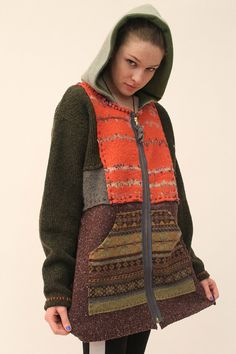 Hilltown Zipper Hoody M by Crispinaffrench on Etsy