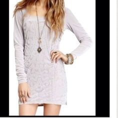 "NEW Free People Silver Dress size S Never worn, without tag dress. Semi sheer and semi velvet⛔️NO TRADE⛔️bust is app. 16"" when it is flat. 10%  off if bundled. Free People Dresses"